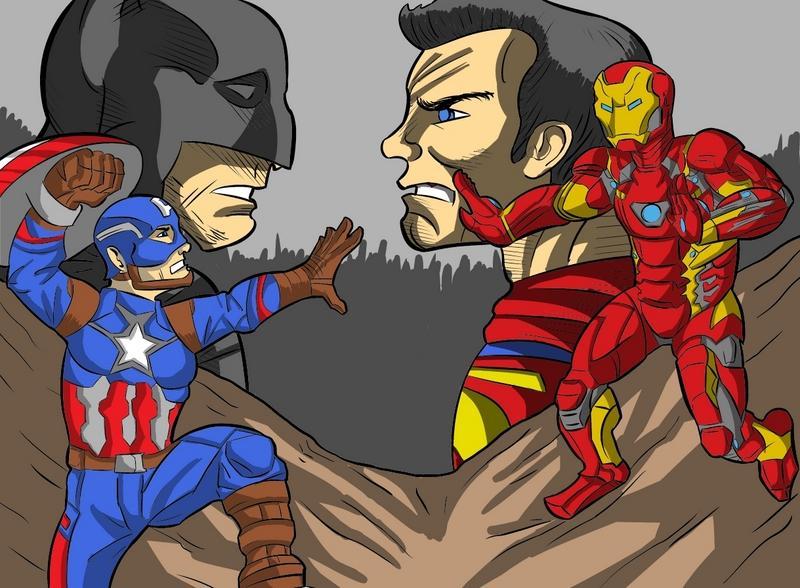 Captain America vs. Iron Man vs. Superman vs. Batman, oh my!