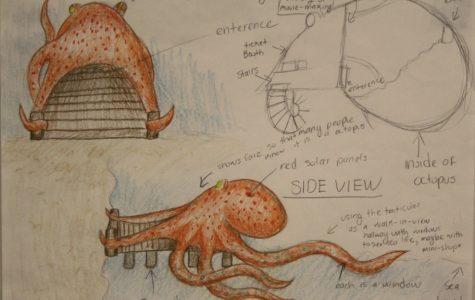 The QHHS LAGI team's octopus design