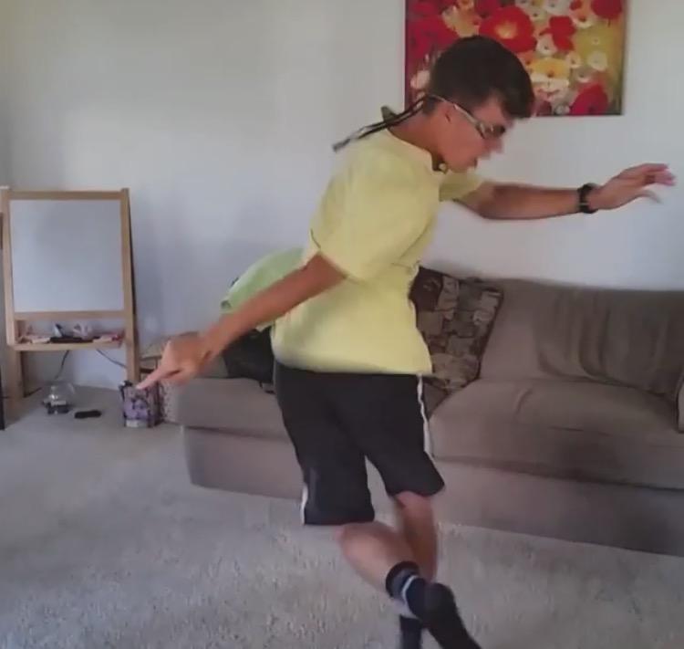 Julian Krzysiak dancing