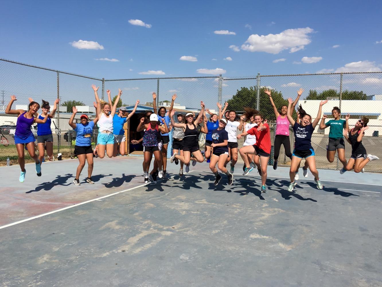 Tenacity at Girls' Tennis Tryouts