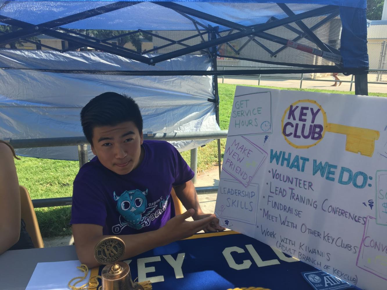 Key Club representative Daniel Cho participated in Club Rush
