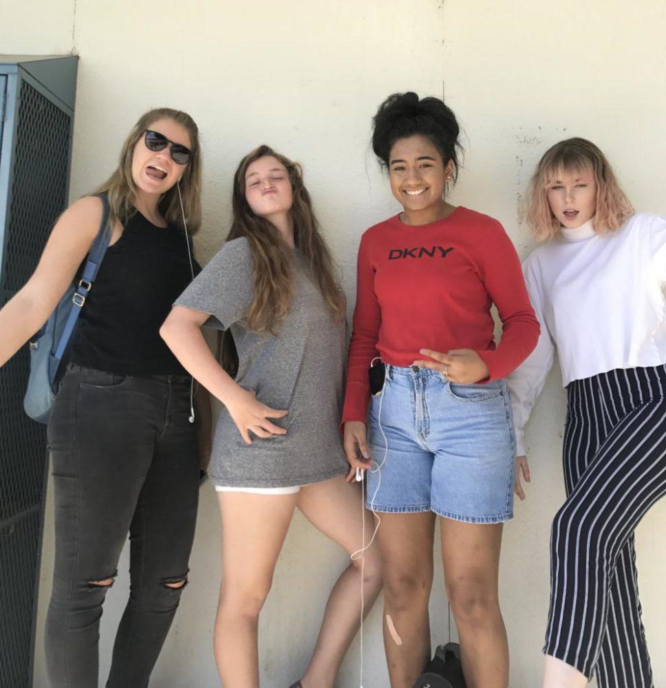 image: left to right- Samantha Blanchard, Makenna Morlee, Amalyn Romero, Mandy Roberts