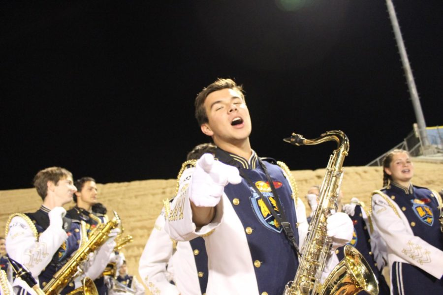 Ayden Howell of the QHHS Band, teenage heartthrob