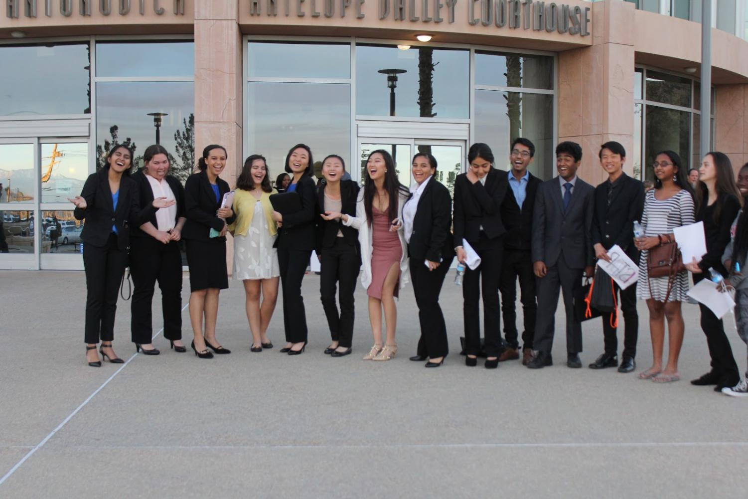 The Mock Trial Team from last year